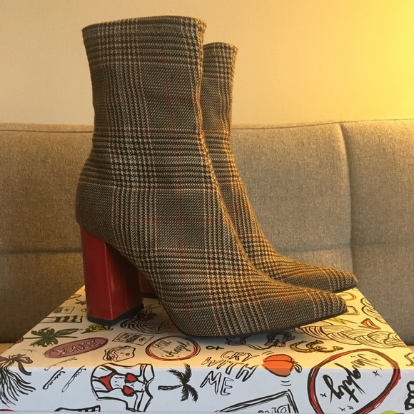 fb197e831789c Jeffrey Campbell Shoes | Siren Block Heel Sock Booties | Poshmark